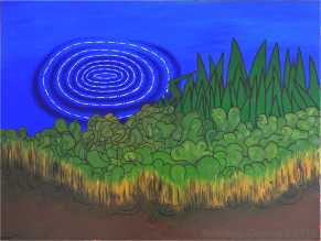 Fleet Pond (2013) Oil on canvas