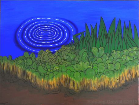 Fleet Pond, oil on canvas