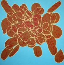 Bread explosion Acrylic on canvas 90cm x 90cm