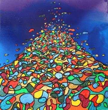 Untitled Acrylic on canvas