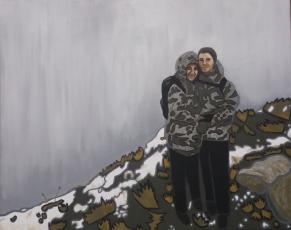 On Pen Y Fan (2019) Acrylic on canvas