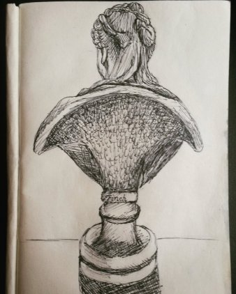 'Back to me' Drawing of one of the earliest British sculptures made by a woman. 'Lady Elizabeth Finch' by Henrietta Finch, 1741