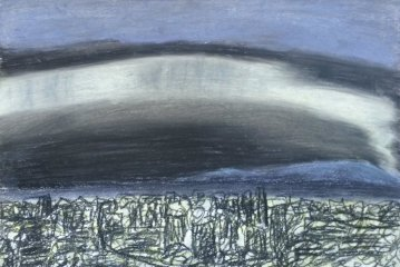Aurora Borealis (from memory) 2017 Charcoal and pastel on paper